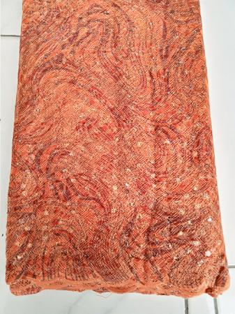 Burnt Orange Tissue Lace