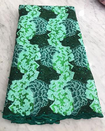 Emerald green net lace