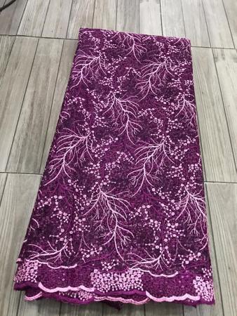 magenta net lace