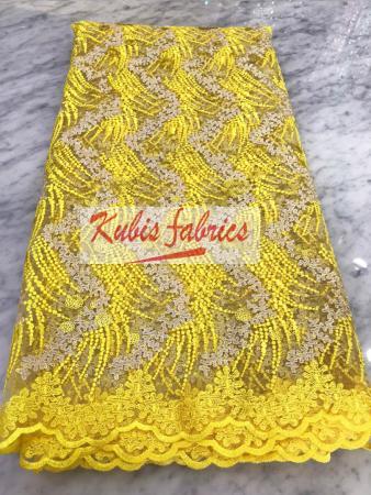 yellow strings net lace